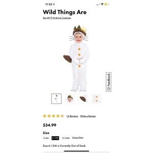 Max - Where the wild things are baby costume!